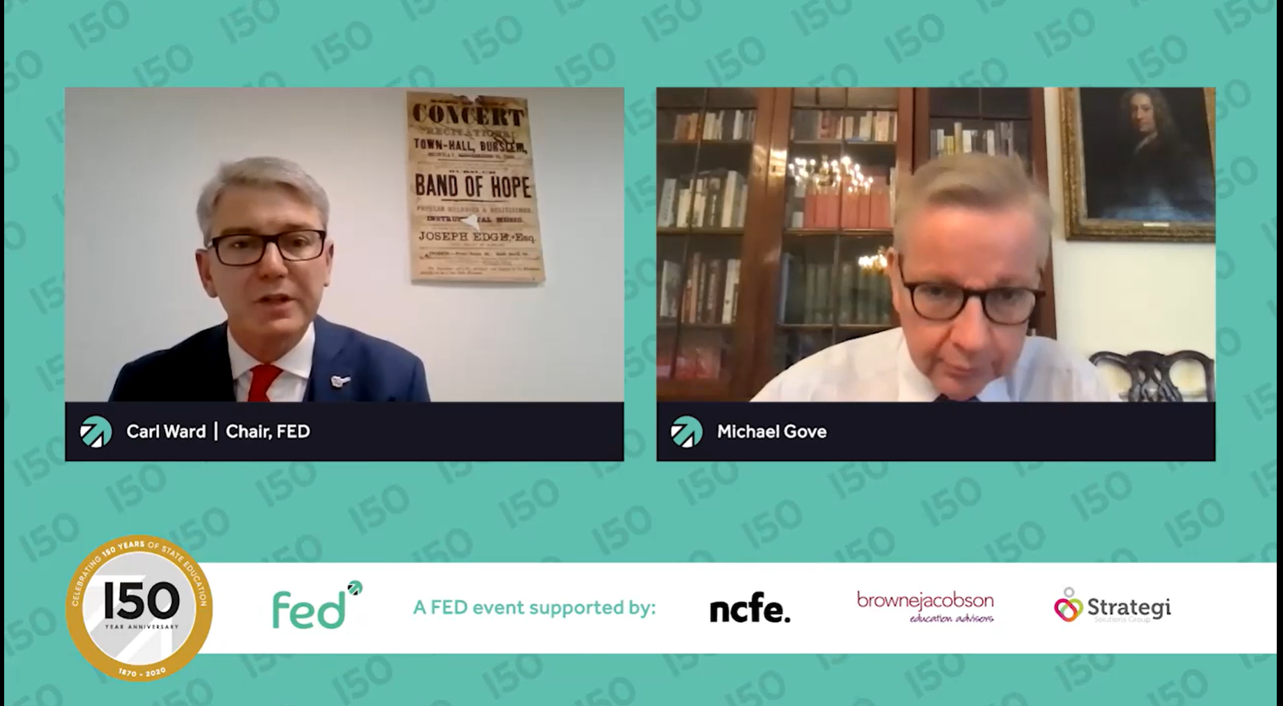 Carl Ward 'in conversation with' Michael Gove