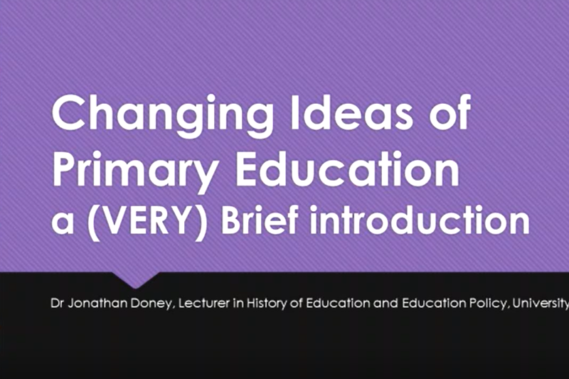 Primary Education Looking Back Moving Forward