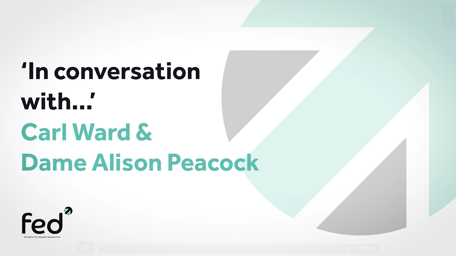 Alison Peacock 'In Conversation With' Carl Ward