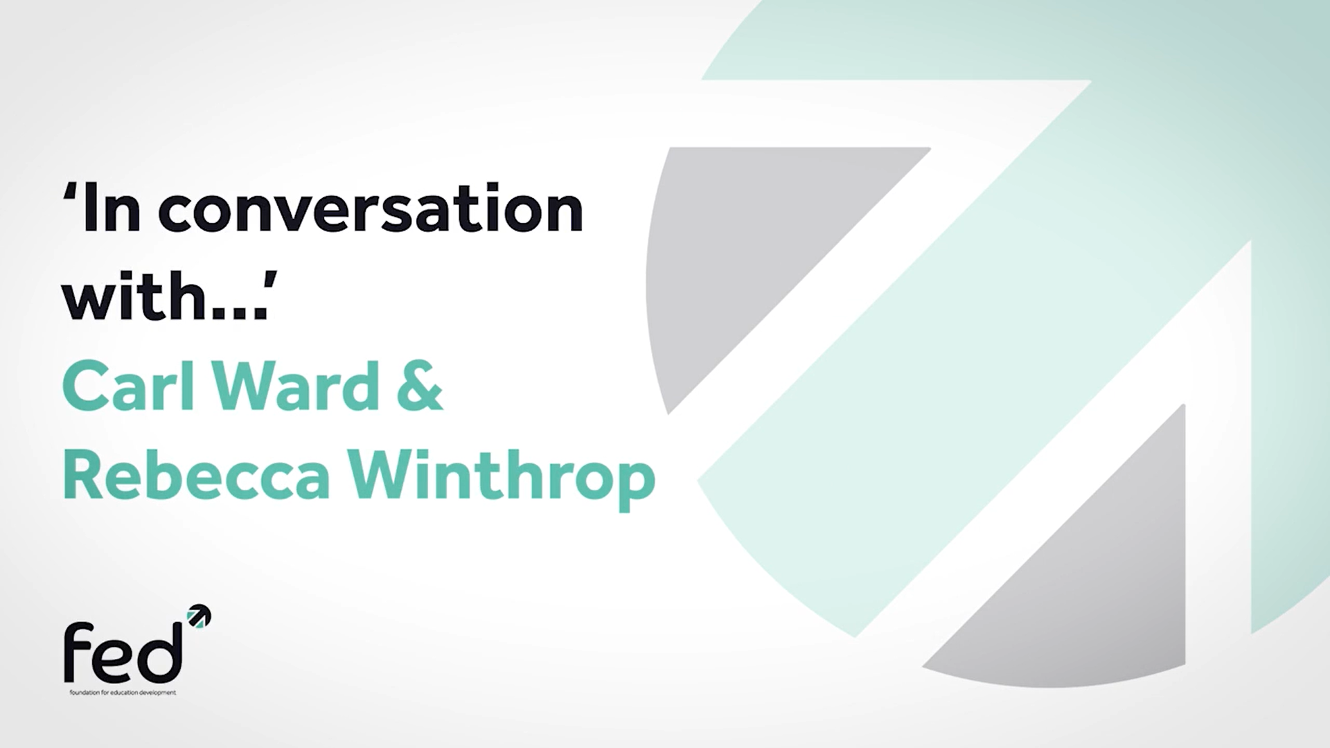 Dr Rebecca Winthrop 'In Conversation With' Carl Ward