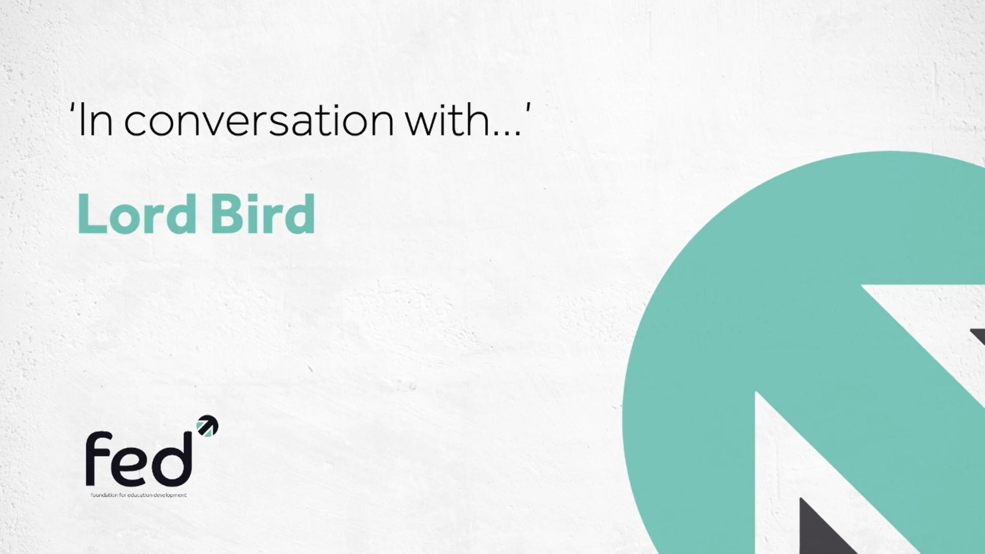 Lord John Bird MBE 'in conversation with' Carl Ward