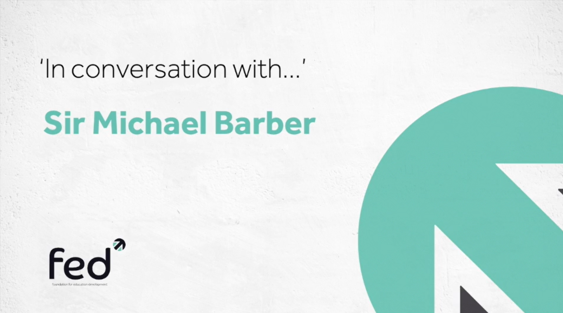 Sir Michael Barber 'In Conversation With'